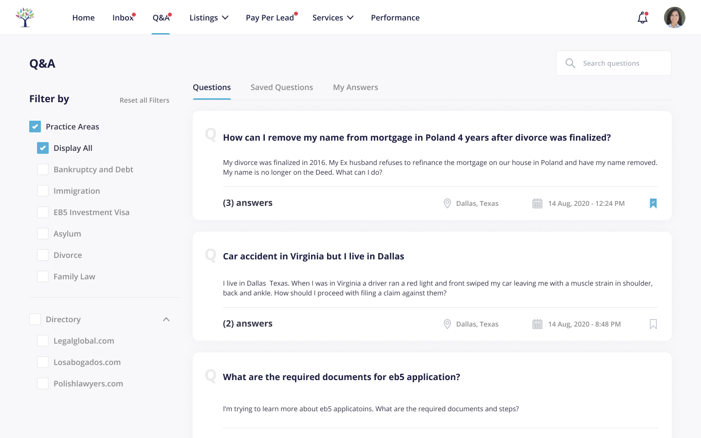 Dashboard - Questions and Answers